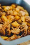 Kurczaka adobo filipińczyka jedzenie Azjatycki karmowy fertanie dłoniaka kurczak z soja kumberlandem, Filipiński tradycyjny jedze Fotografia Stock