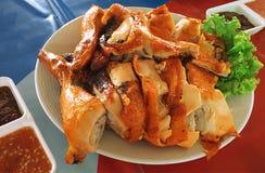 Kurczaka BBQ, kurczaka grill, kurczak piec na grillu, tajlandzki jedzenie Fotografia Stock