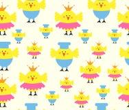 kurczaka bezszwowy wzór Zdjęcie Stock
