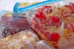 Kurczaka Crockpot chłodni posiłki Zdjęcia Royalty Free