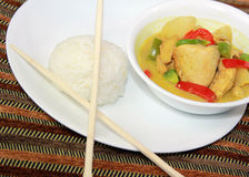 Kurczaka Curry'ego Posiłek Zdjęcia Royalty Free