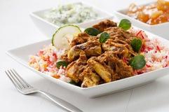 Kurczaka curry'ego posiłek Zdjęcie Royalty Free