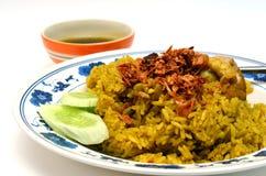 Kurczaka curry'ego ryż Sławny Azjatycki Tajlandzki jedzenie Fotografia Royalty Free