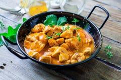 Kurczaka curry na pucharze Obrazy Royalty Free