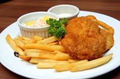 kurczaka cutlet posiłku restauracja słuzyć Fotografia Royalty Free