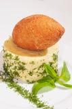 Kurczaka cutlet z puree ziemniaczane z ziele Obrazy Stock