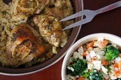 kurczaka cytryny sałatka Zdjęcie Royalty Free