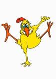 kurczaka doskakiwanie Obrazy Royalty Free