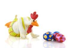 kurczaka Easter jajek śmieszni spojrzenia obrazy stock
