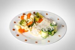 kurczaka fillet piec warzywa Fotografia Royalty Free