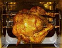 kurczaka frontowy rotisserie widok Obraz Royalty Free