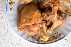 kurczaka głęboki smażący Zdjęcia Royalty Free