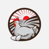 Kurczaka gospodarstwa rolnego emblemat również zwrócić corel ilustracji wektora Obrazy Royalty Free