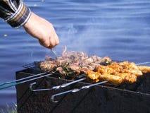 kurczaka grilla baranek Zdjęcie Royalty Free
