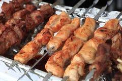 kurczaka grilla kawałki Obraz Stock
