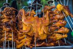 Kurczaka grilla kucharstwo Obrazy Royalty Free