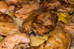 kurczaka grilla kurna gruli pieczeń cała pieczonego kurczaka cały Obrazy Royalty Free