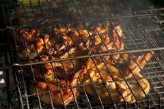 kurczaka grilla liść pieczony sałatkowy smakowity Zdjęcia Stock