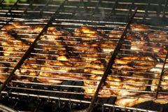 kurczaka grilla liść pieczony sałatkowy smakowity Fotografia Royalty Free