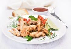 Kurczaka grilla mięso z warzywami Obraz Royalty Free