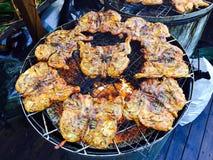 Kurczaka grilla przedstawienia czas Zdjęcia Stock