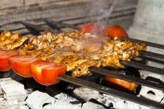Kurczaka grilla Zdrowy Mięsny jedzenie Obrazy Royalty Free