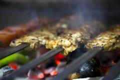 Kurczaka grilla Zdrowy Mięsny jedzenie Zdjęcia Royalty Free