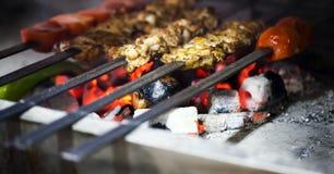 Kurczaka grilla Zdrowy Mięsny jedzenie Fotografia Royalty Free