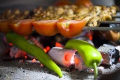 Kurczaka grilla Zdrowy Mięsny jedzenie Obrazy Stock