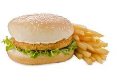 Kurczaka hamburger fotografia royalty free