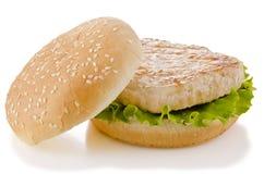 Kurczaka hamburger obraz stock
