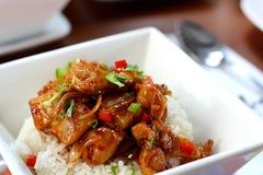 kurczaka hawajczyka ryż styl Obrazy Stock