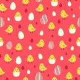 Kurczaka i jajek Tapetowy Bezszwowy Deseniowy tło ilustracji