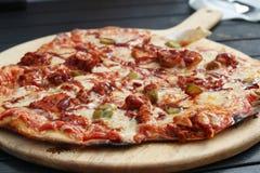 Kurczaka i pieprzu pizza Fotografia Royalty Free