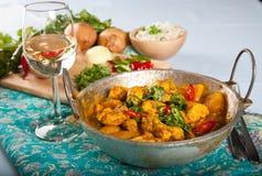 Kurczaka indiański curry Obrazy Royalty Free