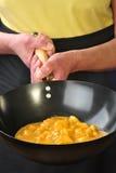 kurczaka indyjski Korma wok Zdjęcia Stock