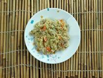 Kurczaka język nowoindoaryjski Biryani Fotografia Stock