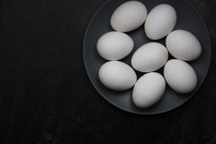 kurczaka jajek talerz Fotografia Stock