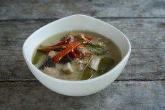 Kurczaka kokosowy zupny lokalny thaifood Zdjęcia Stock