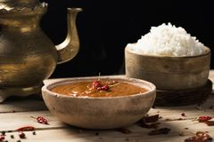 Kurczaka Korma ryż i curry Obraz Royalty Free