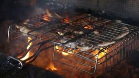 Kurczaka kucharstwo na grilla grillu Plenerowy kucharstwo zbiory wideo