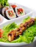 kurczaka kuchni japończyka yakitori Zdjęcie Royalty Free