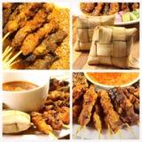 kurczaka kuchni malezyjski arachidowy satay kumberland słuzyć tajlandzkiego zazwyczaj Zdjęcia Stock
