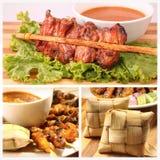 kurczaka kuchni malezyjski arachidowy satay kumberland słuzyć tajlandzkiego zazwyczaj Zdjęcie Stock