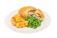 Kurczaka kulebiak Zdjęcie Stock