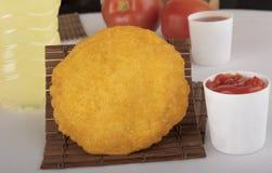 Kurczaka kulebiak z czerwonym kumberlandem zdjęcie stock