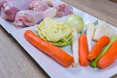 kurczaka mięsa warzywa Fotografia Stock