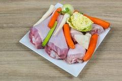 kurczaka mięsa warzywa Zdjęcie Royalty Free