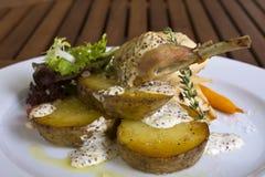 kurczaka mięsnego królika smakowici warzywa Fotografia Royalty Free
