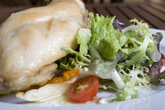 kurczaka mięsnego królika smakowici warzywa Zdjęcie Royalty Free